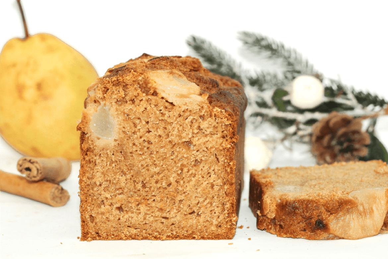 Cake vegan poire cannelle