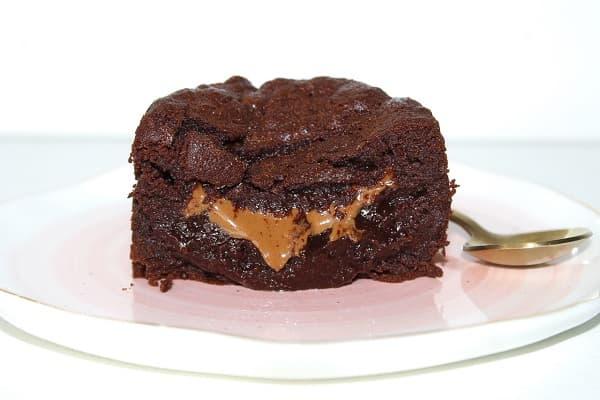 coulant chocolat coeur praline sans gluten