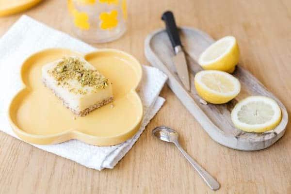 carre citron vegan sans lactose sans gluten