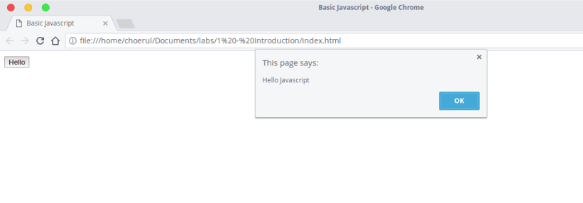Easy Javascript - onclick button