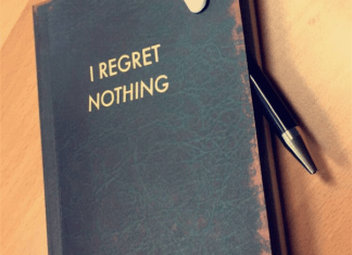 """I Regret Nothign"" Notepad"