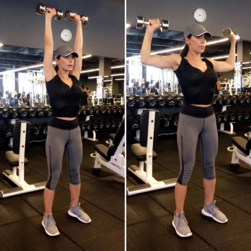 Dumbbell Both Arms Tricep Extension - Toning Arms