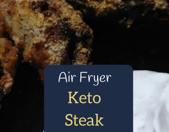 keto air fryer steak bites, keto air fryer recipe, keto steak recipe, air fried beef
