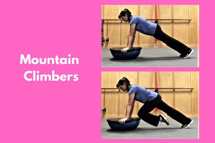 Bosu Workout Mountain Climbers