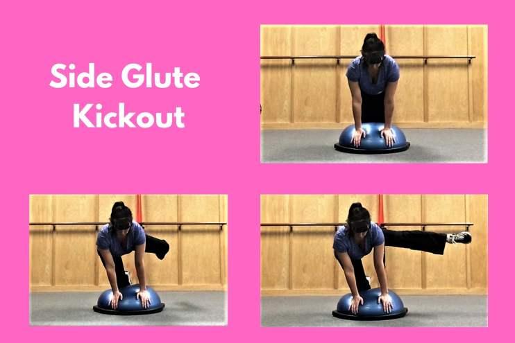 Bosu Workout Side Glute Kickout