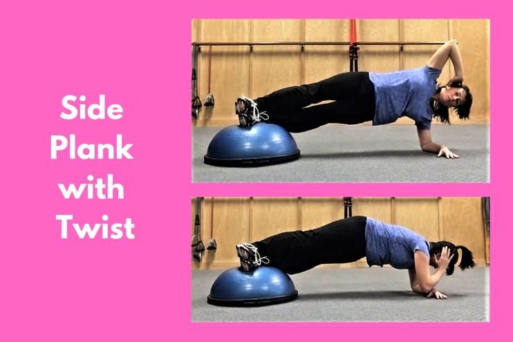 Bosu Workout Side Plank with Twist