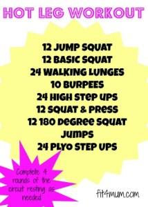Hot leg workout