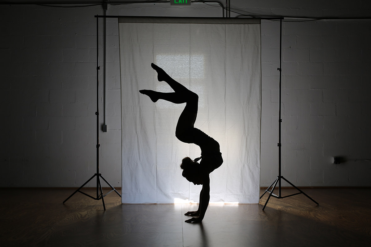 Stay Motivated Flexibility Goals Silhouette Contortion Fitness Studio Woman