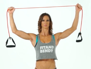 Resistance Tube Woman Stretching Flexibility Fit and Bendy