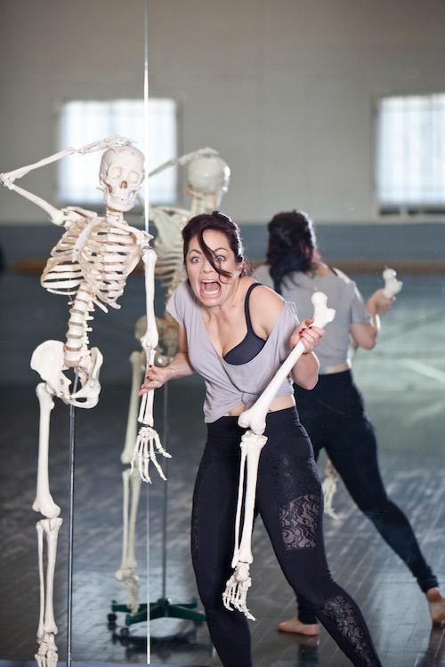 Kristina Nekyia Founder Fit Bendy Skeleton Bones Screaming Mirror