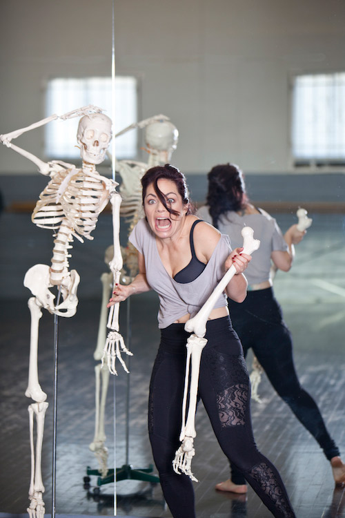 Kristina Nekyia Founder Fit Bendy Skeleton Bones Screaming Mirror