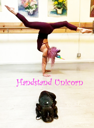 Handstand Unicorn Fit and Bendy Flexibility Booty Dog Woman