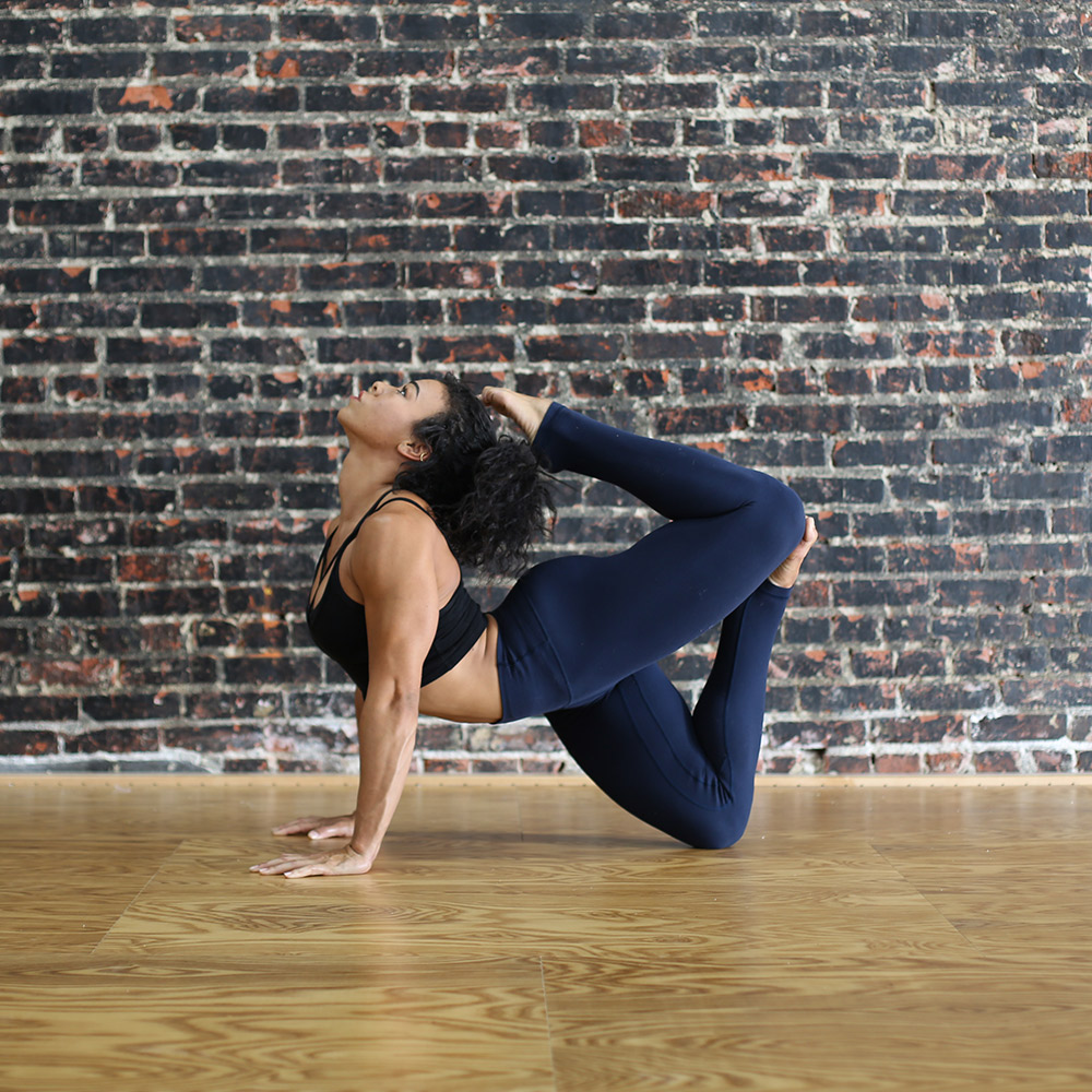 Demystifying Flexibility Woman Bending Backwards Stretch Yoga Studio Fitness Fit and Bendy