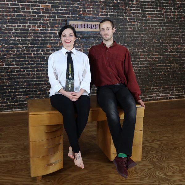 Sit and Bendy kristina Nekyia Desk Sitting Man Woman Fitness Flexibility