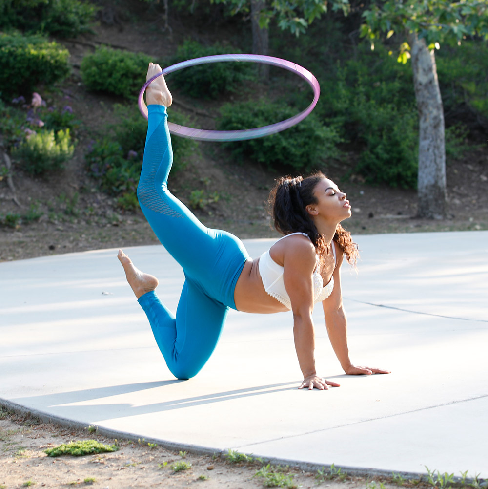 Lexi Powell Hooping Outside Mimosa Jam Fit and Bendy Workshop