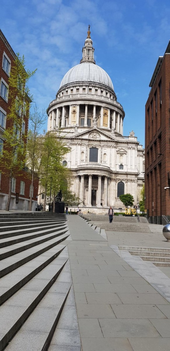 Photos of London in Lockdown - April 2020-2-St Pauls Cathedral