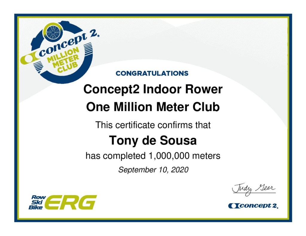 One Million Meters on an Indoor Rower