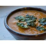 Spicy Thai pumpkin and coconut soup