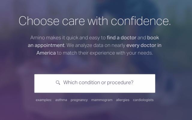 Amino free healthcare website