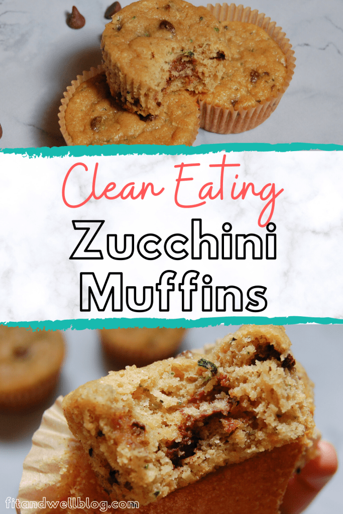 Simple and delicious clean eating zucchini muffins! You'll love this family friendly recipe. Fitandwellblog.com