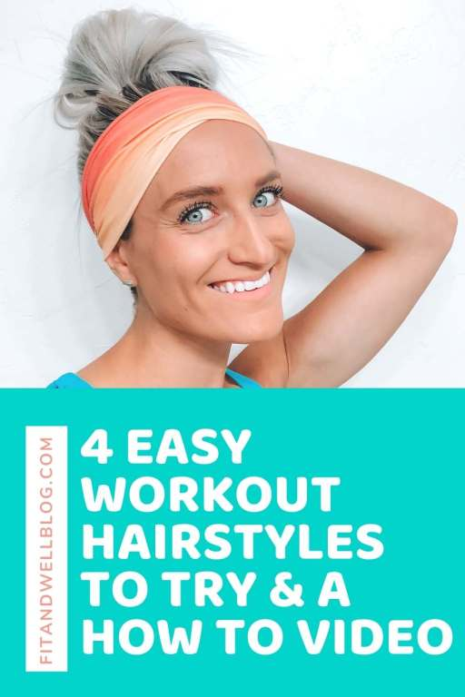 4 easy workout hairstyles for long hair-with how to video