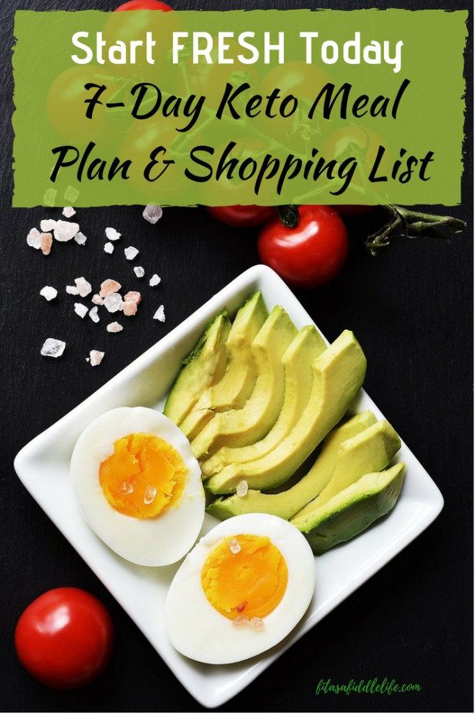 Start keto diet and get grocery list and 7-day meal plan, tips on starting the diet.