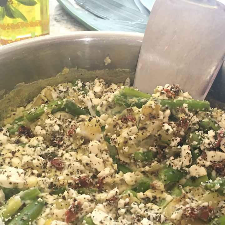 asparagus frittata ready to serve