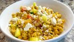 Mediterranean Salad with Chickpeas and Barley makes a great side salad.