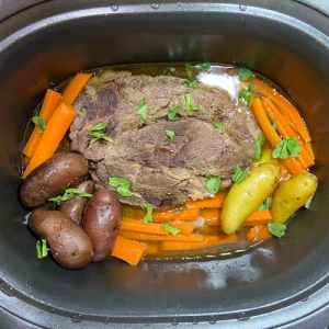 Add potatoes carrots to slow cooker later so they are tender
