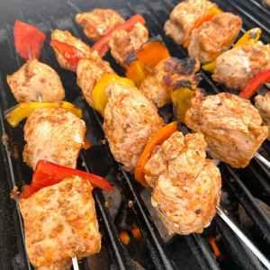 grilled chicken kabobs