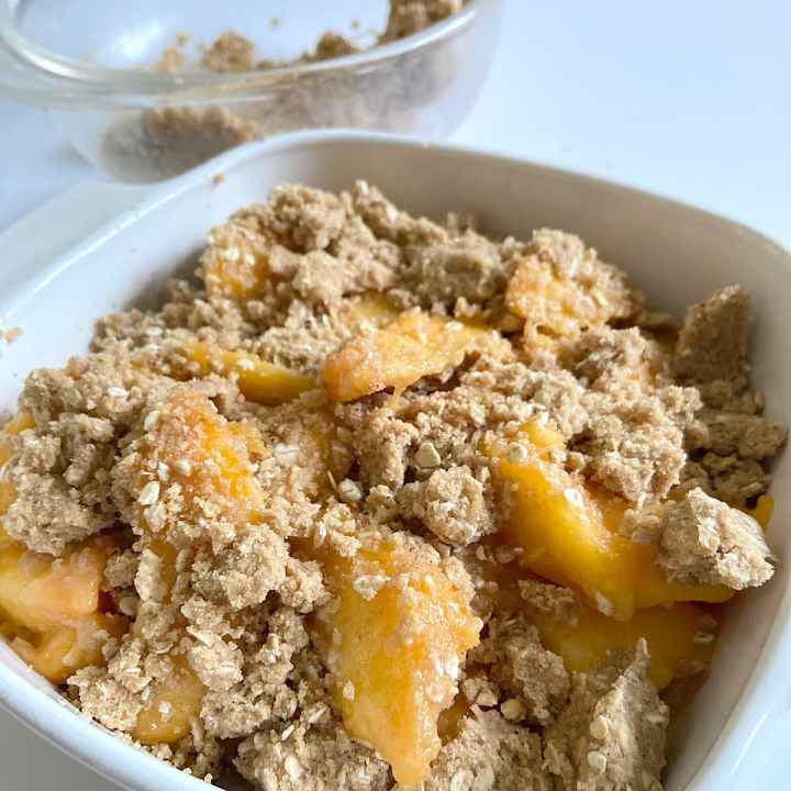 peaches with crisp topping