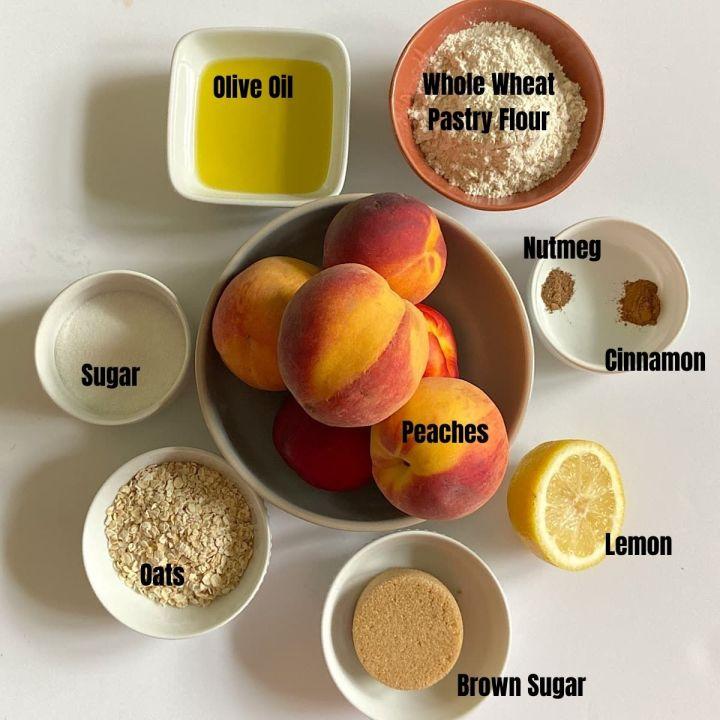 ingredients for peach crisp recipe