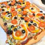 whole wheat thin crust vegetable pizza