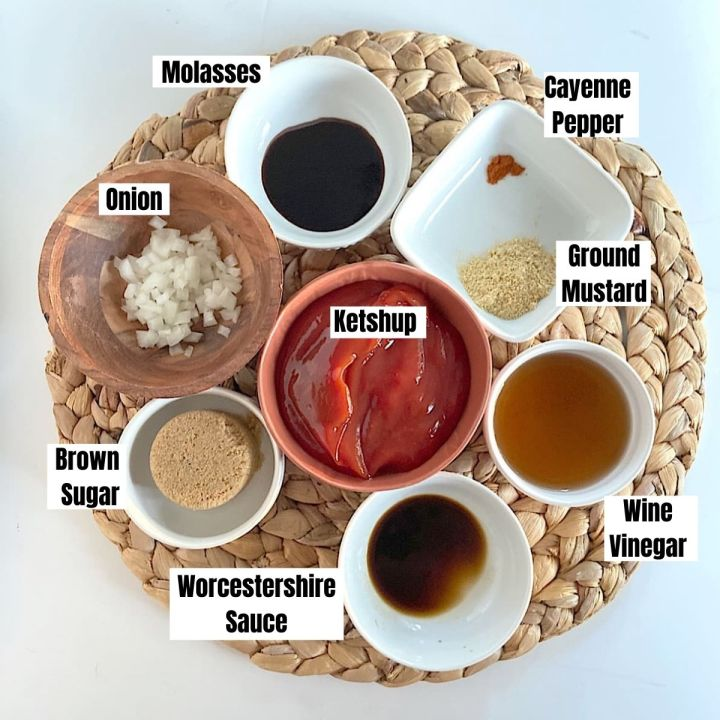 measured ingredients for homemade barbeque sauce