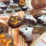 ghost and pumpkin halloween brownie shapes