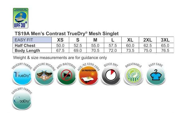 Singlet-Mens Sizing Chart
