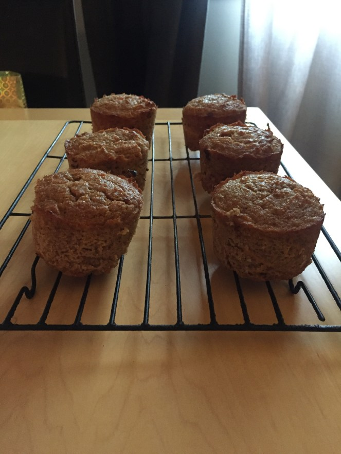 carrot apple spice muffins