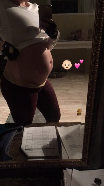 late night training sesh with the baby belly