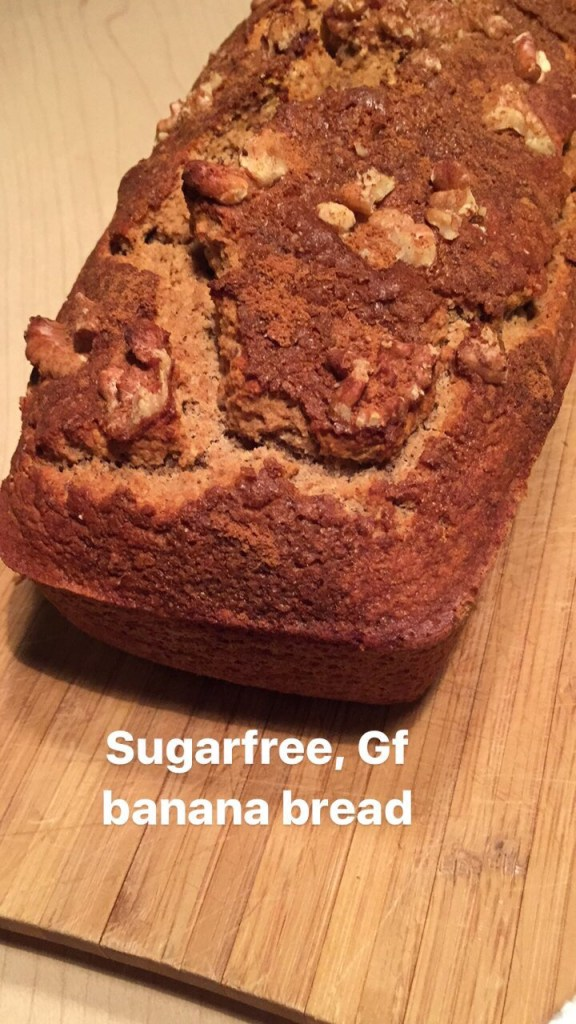 Banana bread. Sugar free, Gluten free, Low fat