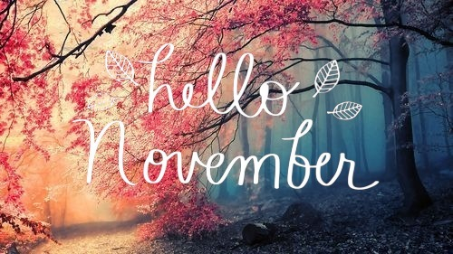 Goodbye October, Hello November | Books Forget Me Knot