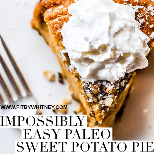 Paleo Sweet Potato Pie Recipe