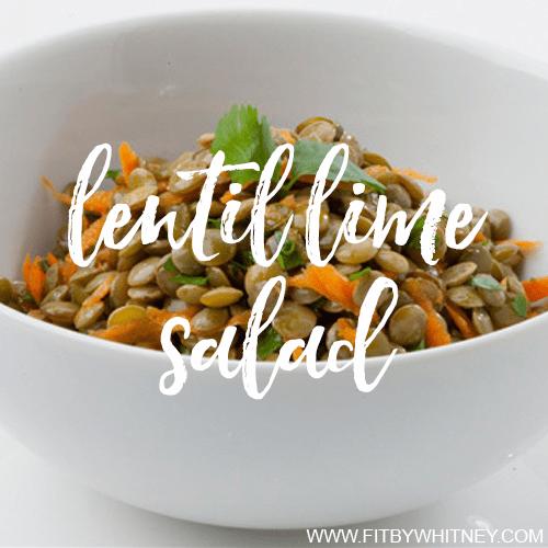 Lentil Lime Salad Healthy Recipe