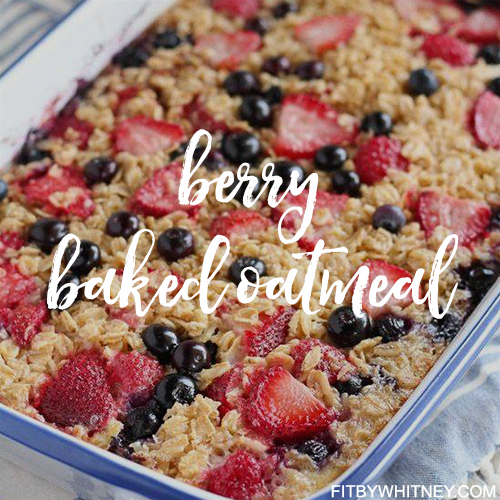 Berry Baked Oatmeal Healthy Vegitarian Recipe