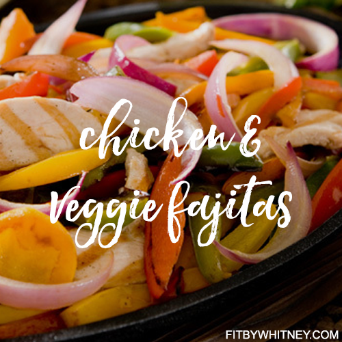 Chicken and Veggie Healthy Fajitas Recipe