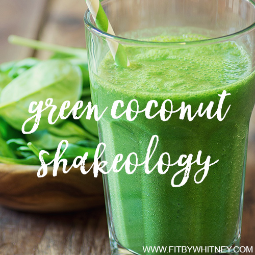 Green Coconut Shakeology Recipe