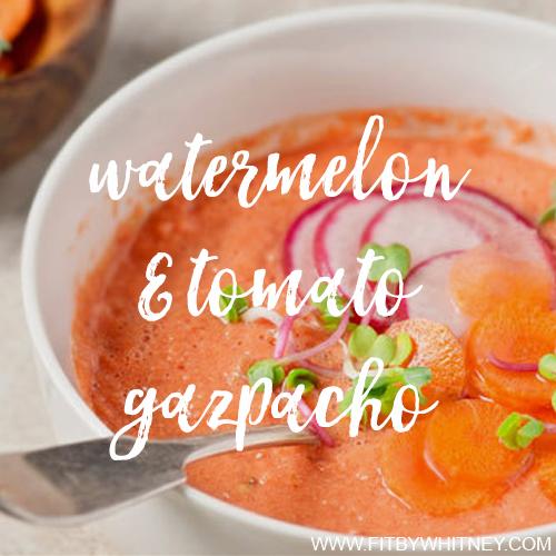 Watermelon and Tomato Gazpacho Recipe