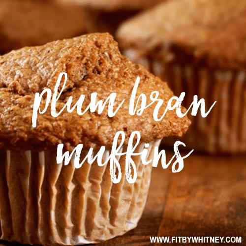 Plum Bran Healthy Muffin Recipe