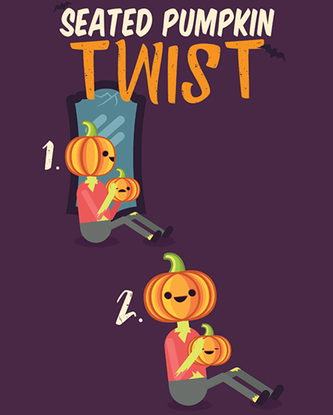 Halloween Workout - Seated Twist Exercise