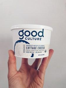 collation haute en protéine - Fromage cottage - good culture, nature