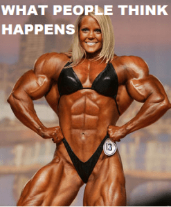 This is what people think will happen if they lift weights.